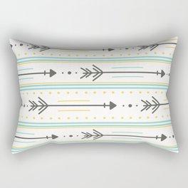 Boho gray yellow mint green polka dots arrows stripes Rectangular Pillow