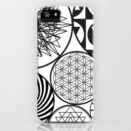NAKED GEOMETRY no 9 iPhone Case