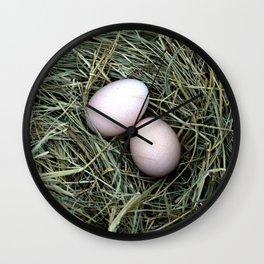 Chicken Eggs Wall Clock
