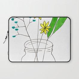 mason jar flower arrangement Laptop Sleeve