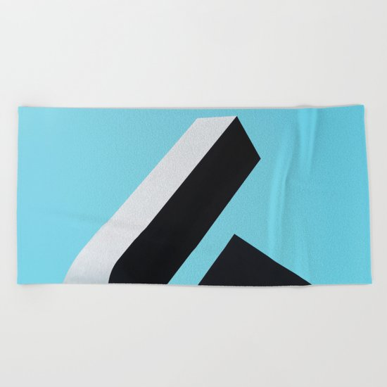 Abstract Architecture Beach Towel