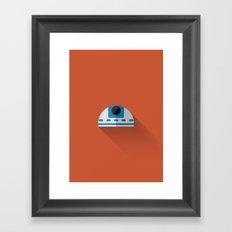 R2D2 Minimalist Poster Framed Art Print