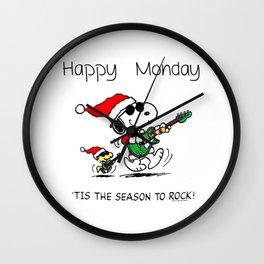 Happy Monday Wall Clock