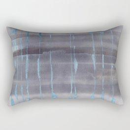 Grey Rain Rectangular Pillow