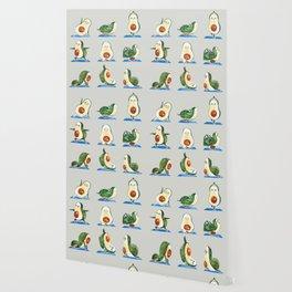 Avocado Yoga Watercolor Wallpaper