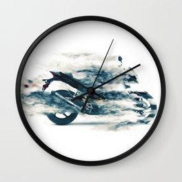 Dynamic motorcycle Wall Clock