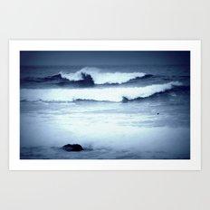 dancing waves Art Print