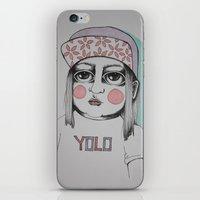 yolo iPhone & iPod Skins featuring Yolo  by Agnes Emilia