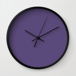 Solid Berry Purple Wall Clock