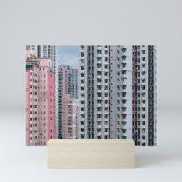 Pink Buildings Mini Art Print
