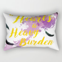 A Heart's a Heavy Burden quote from Howl's Moving Castle Rectangular Pillow