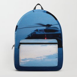 Support Helicopters Fly at Dusk Backpack