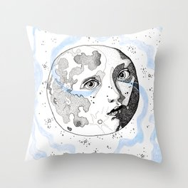 Moon Man Throw Pillow
