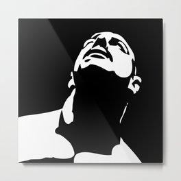 duotone male face design, Metal Print
