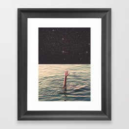Drowned in space Framed Art Print