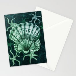 Dystopian Cockle - Lambent Green Stationery Cards