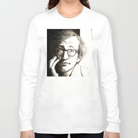 woody allen Long Sleeve T-shirts featuring Woody Allen by Frances Roughton