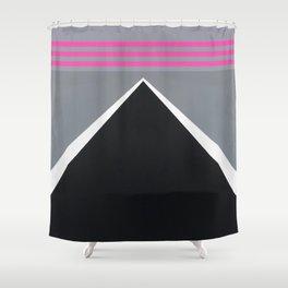 August - mirror pink Shower Curtain