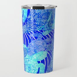 blue sea turtles Travel Mug