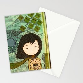 """Ghost figures of past, present, future haunting the heart"" Stationery Cards"