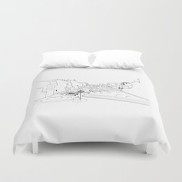 Lombard Hill in San Francisco Duvet Cover
