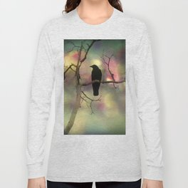 Crow Dreams In Colors Long Sleeve T-shirt