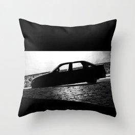 Car at night Throw Pillow