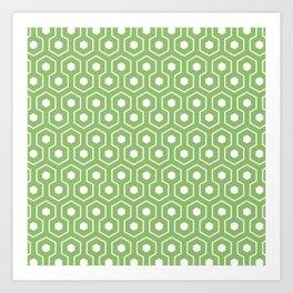 Olivine Hex   Beautiful Interior Design Art Print