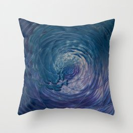 Fall Into Me - Abstract Art by Fluid Nature Throw Pillow