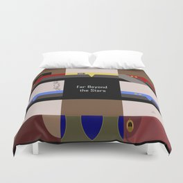 DS9 - Far Beyond the Stars - square - Minimalist Star Trek DS9 Deep Space Nine - Crew Duvet Cover