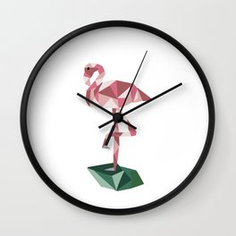 Rose's Flamingo Wall Clock