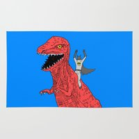 dinosaur Area & Throw Rugs featuring Dinosaur B Forever by Isaboa