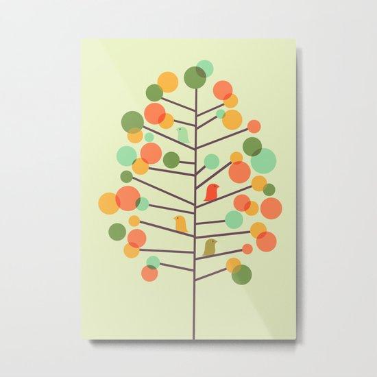 Happy Tree - Tweet Tweet Metal Print
