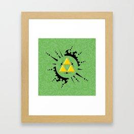 Triforce Zelda Framed Art Print