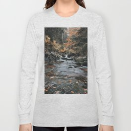 Autumn Creek - Landscape and Nature Photography Long Sleeve T-shirt