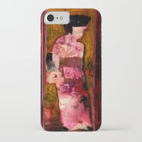 geisha iPhone & iPod Cases featuring Geisha by agnes Trachet