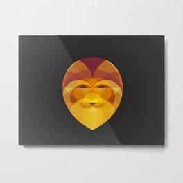 Lion - Geometric Head Metal Print