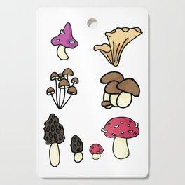 Cute mushroom cartoon illustration Cutting Board