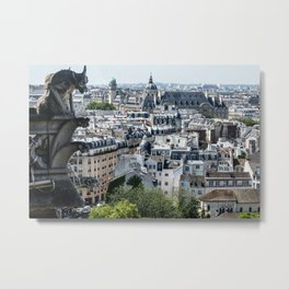 View from top of Notre Dame, Paris France Metal Print