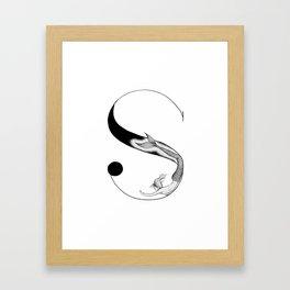 Mermaid Alphabet - S Framed Art Print