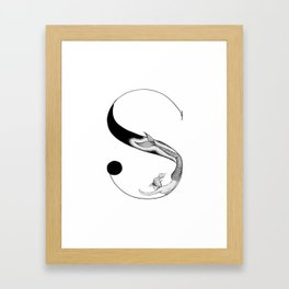Mermaid Alphabet - S Framed Art Print