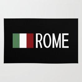 Italy: Italian Flag & Rome Rug