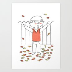 """There's no leaves like Autumn leaves"" Art Print"