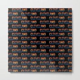 Cleveland Ohio Pride Illustration Metal Print