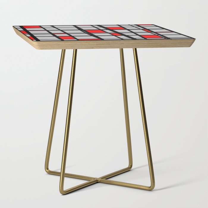 Gridlock__Abstract_Side_Table_by_MellowCat__Gold__Square