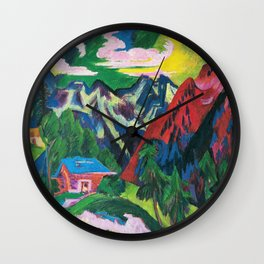 Ernst Ludwig Kirchner - The Klosterser Mountains - Digital Remastered Edition Wall Clock