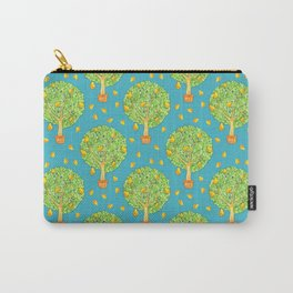 Pear Tree Pears Teal Pattern Carry-All Pouch