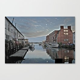 Lobster Harbor Canvas Print
