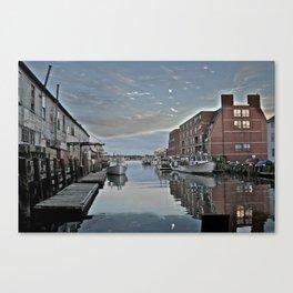Lobster Harbor Canvas Print