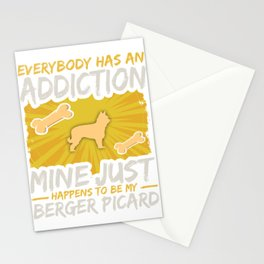 Berger Picard Funny Dog Addiction Stationery Cards